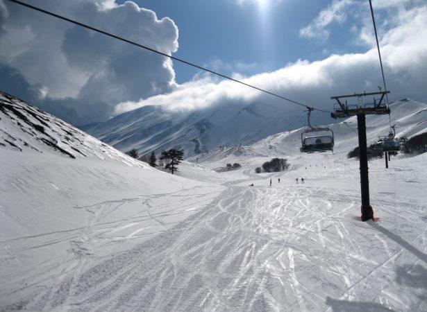 Skiing in Sicily. Piano Provenzana – Etna Nord.
